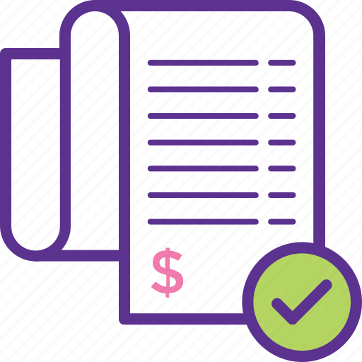 accounting, bill, billing information, invoice, receipt icon
