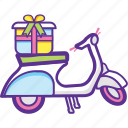 cargo bicycle, cargo bike, delivery bike, electric cargo bike, food delivery bikes icon