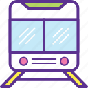 electric train, modern train, railway, train, tram train icon