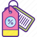 concession, deduction, discount, percentage, reduction icon