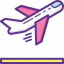 aeroplane, departure, flight, plane, takeoff icon