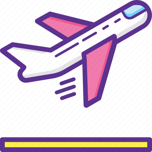 Aeroplane, departure, flight, plane, takeoff icon - Download on Iconfinder