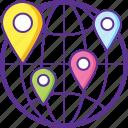 global logistics, international cargo, international freight, international shipment, worldwide shipping icon