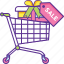 ecommerce, online store, shopping cart, store delivery, supermarket icon
