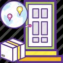 cargo service, door to door cargo, door to door deliveries, doorstep delivery, home delivery icon