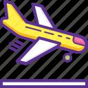airplane, arrival, arriving plane, landing, landing plane icon