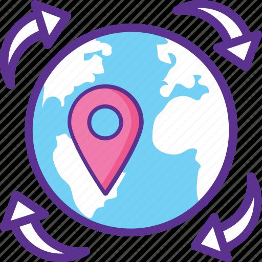 Global logistics, international cargo, international deliveries, international freight, international shipment icon - Download on Iconfinder
