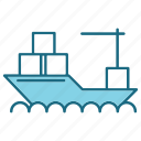 delivery, logistics, ship, transport, transportation icon