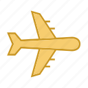 delivery, logistics, plane, transport, transportation icon