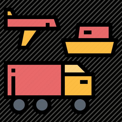 delivery, logistics, transport, transportation, travel icon