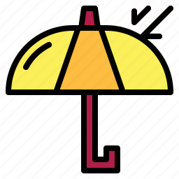 delivery, logistics, sign, umbrella icon