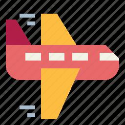 air, airplane, logistics, transport, transportation, travel icon