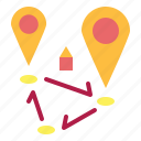 gps, locations, map, pin, position icon