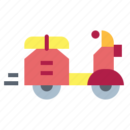 motorbike, motorcycle, scooter, transport, vespa icon