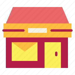 buildings, letters, mail, office, post, postal icon
