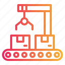 conveyor, factory, industrial, industry, logistics, machine, transport icon