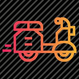 motorbike, motorcycle, scooter, transport, vespa icon