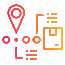 map, mapping, pointers, route, tracking icon