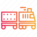 rail, train, transport, transportation, travelling icon