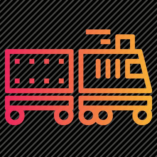 rail, train, transport, transportation, travelling icon