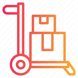 box, delivery, package, packing, transport, trolley icon