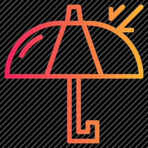 delivery, logistics, sign, umbrella icon