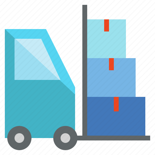 cargo, forklift, freight, load, logistics, parcel icon