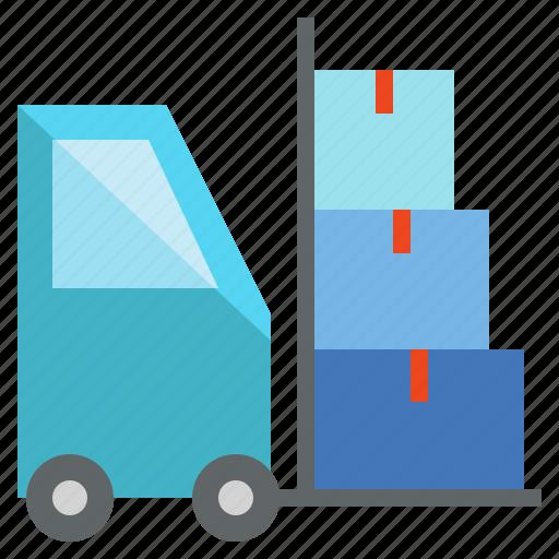 Cargo, forklift, freight, load, logistics, parcel icon - Download on Iconfinder