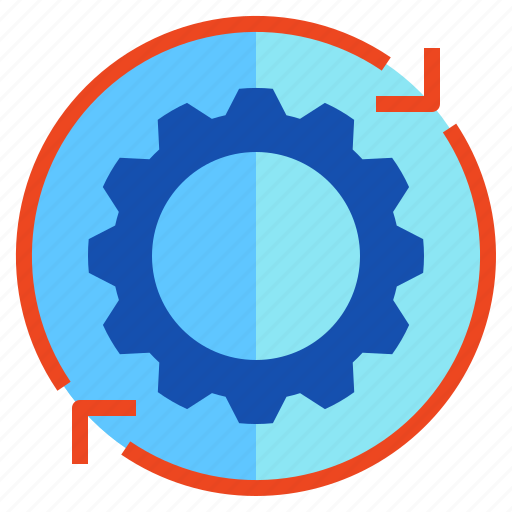 action, circulate, gear, move, operation, performance icon