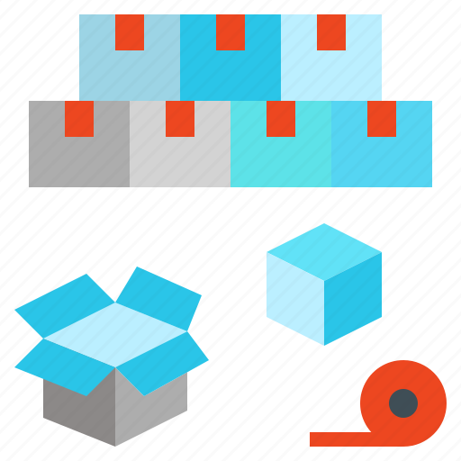 box, containing, packing, parcel, stock, storage icon
