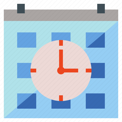 calendar, clock, schedule, time, timetable icon