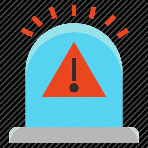 alert, caution, emergency, siren, urgent, warn icon
