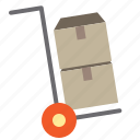business, cart, logistics, shipping, transport icon
