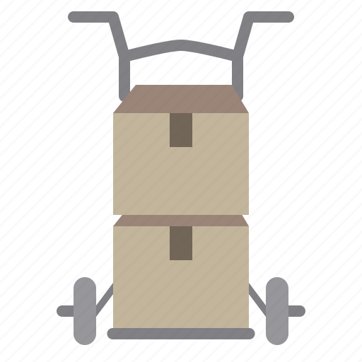 business, cart, logistics, shipping, transport, trolley icon