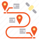 business, gps, logistics, map, pin, point, shipping icon