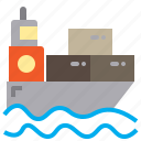 business, logistics, sea, ship, shipping, transport icon