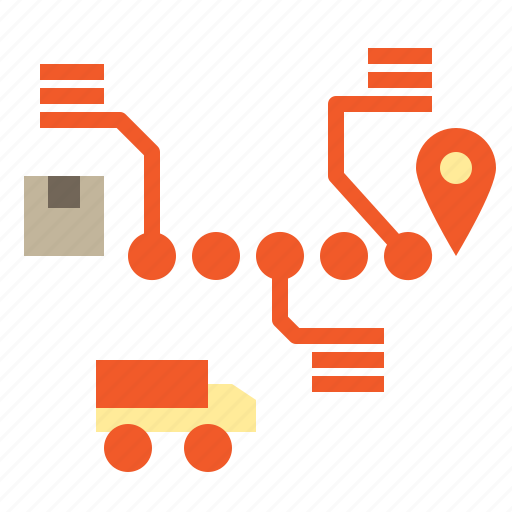 business, logistics, shipping, tracking, transport icon