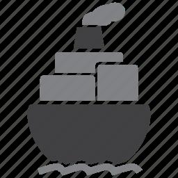 cargo, freight, logistics, ship icon
