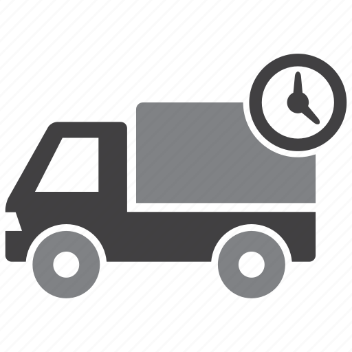delivery, time, transport, truck icon