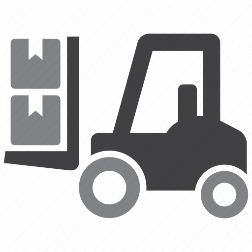 fork truck, forklift, logistics, store icon