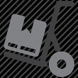box, hand, logistics, truck icon