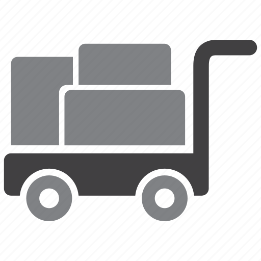cargo, trolley, warehouse icon