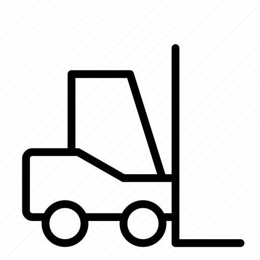 carry, factory, forklift, goods, logistics icon