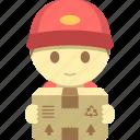 delivery, mailman, man, parcel, postman icon