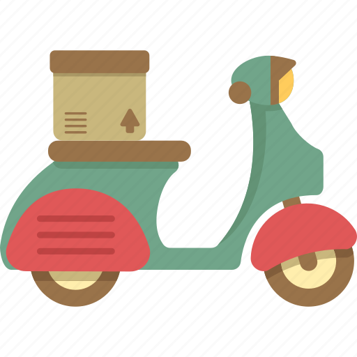 bike, delivery, delivery bike, on icon