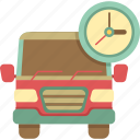 delivery, delivery van, scheduled, van icon