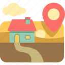 destination, home, house icon
