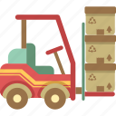 forklift, logistics, truck icon
