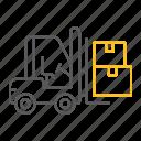 bendi, box, cardboard, delivery, forklift, logistic, truck