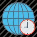 globe, globel, international, location, logistic, time, transport icon